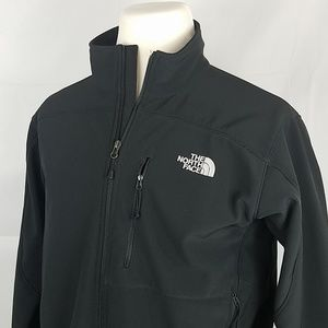 The North Face black zip up jacket